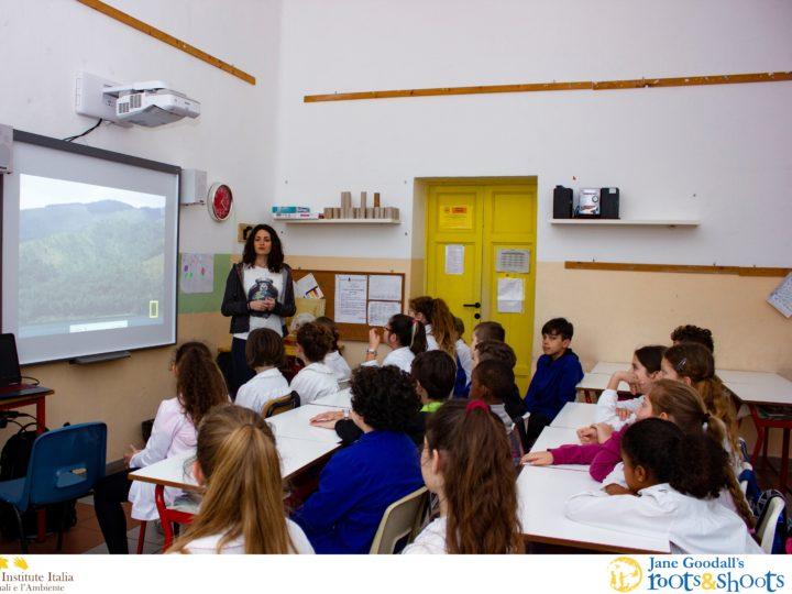 Elettra e le scuole della provincia di Livorno per l'Ibis eremita e Reason for Hope