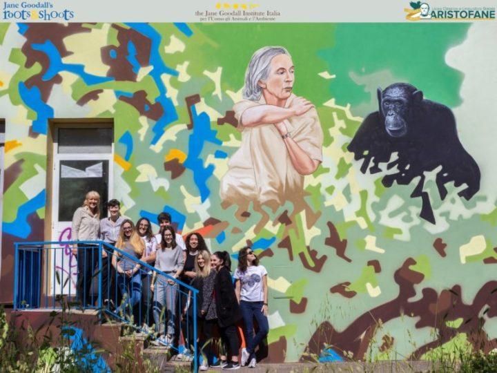 Giornata Mondiale dell'Ambiente 2018: la festeggiamo con un murales dedicato a Jane Goodall