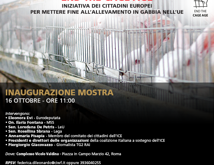 Al via in Italia  l'iniziativa dei cittadini europei End the Cage Age
