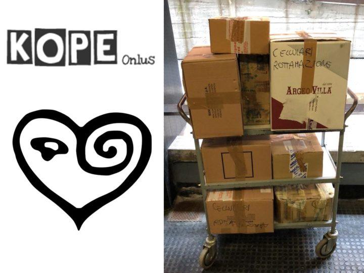 Grazie a KOPE ONLUS che ha sostenuto la Campagna Cellulari donandone oltre 500