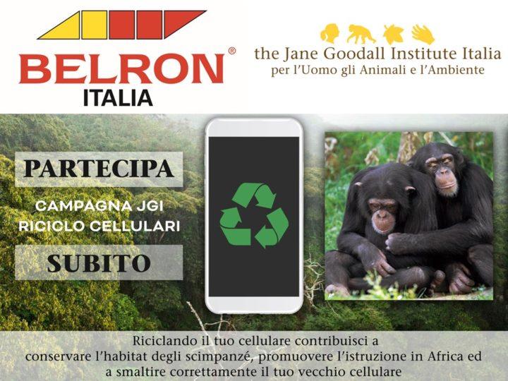 Sinergia di intenti: l'azienda Carglass® – Belron Italia partecipa alla Campagna Riciclo Cellulari del Jane Goodall Institute Italia