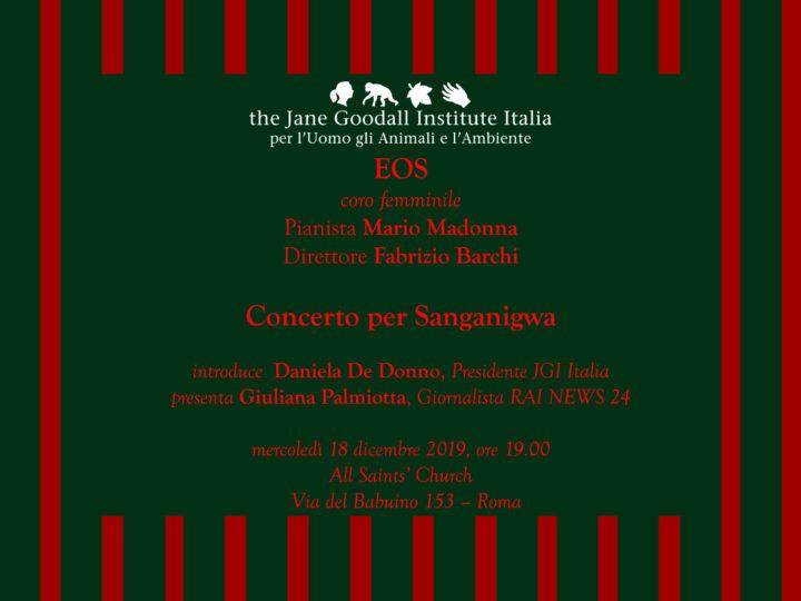 Il Coro Eos – come l'Aurora – per il Concerto di Natale 2019 per Sanganigwa