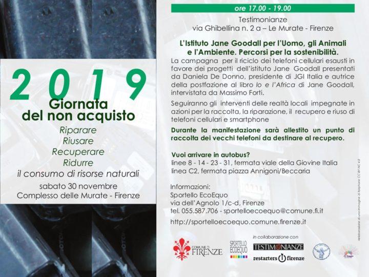 Daniela De Donno per la Campagna Cellulari alla Giornata del Non Acquisto 2019 di Firenze