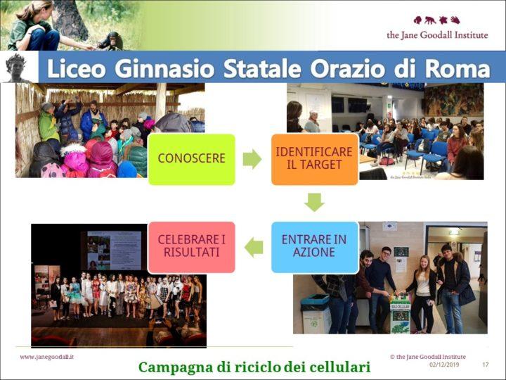 Un nuovo gruppo Roots&Shoots al Liceo Orazio di Roma