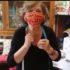 Fiorella, JGI Toscana, per la sartoria di Sanganigwa: un tutorial per mascherine coloratissime