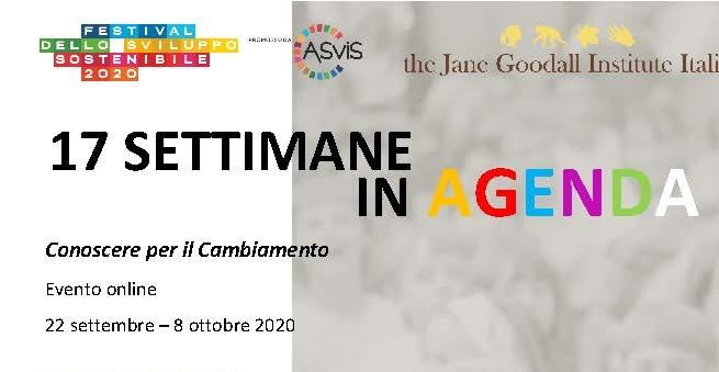 """Festival dello Sviluppo Sostenibile: il JGI con """"17 settimane in agenda"""""""