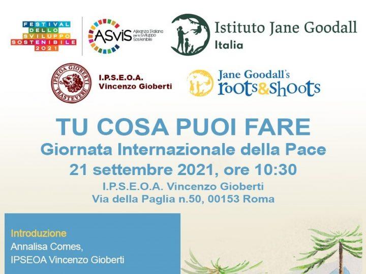 Giornata Internazionale della Pace 2021 con l'Istituto Vincenzo Gioberti di Roma